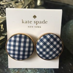 Kate Spade New York  Gold-Plated Button  Earrings